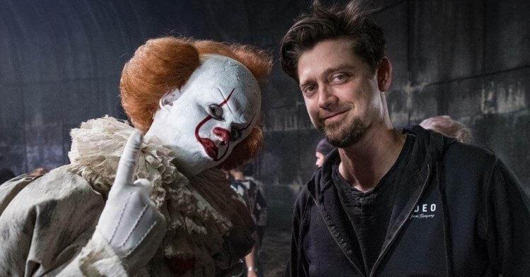 《牠:第二章》導演安迪馬希提 (Andy Muschietti) 和「小丑」潘尼懷斯。