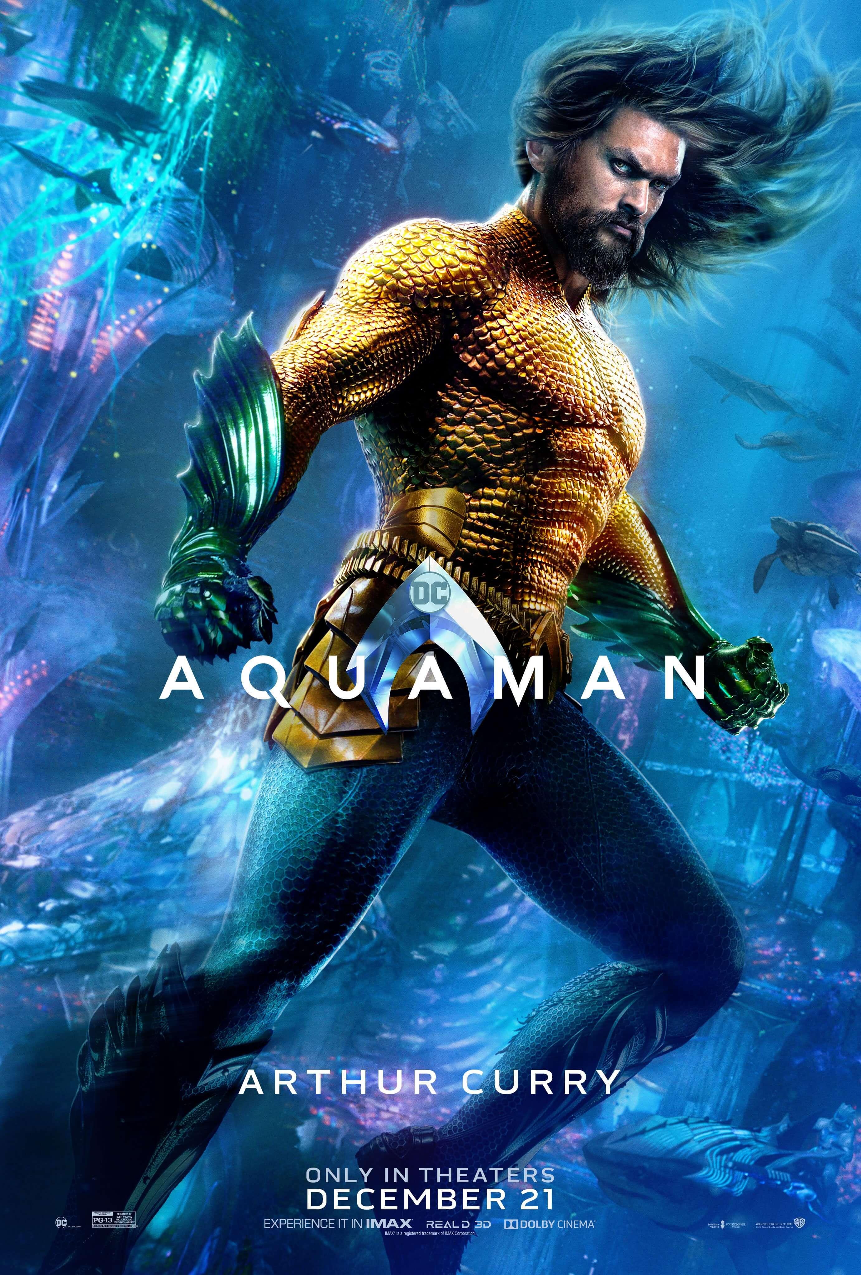穿上經典黃綠戰袍的水行俠。