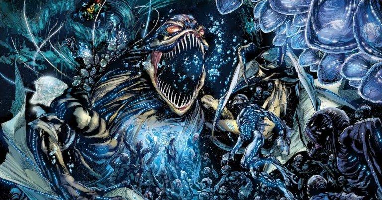 DC 新 52 漫畫系列中曾深入描繪海溝族,以及牠們成為水行俠敵人的故事。