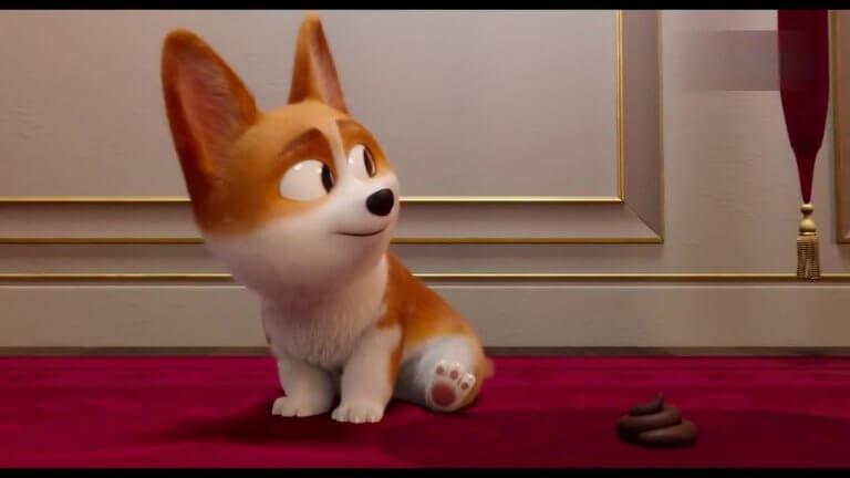 動畫電影《女王的柯基》(The Queen's Corgi)劇照,想在英國皇室生活,柯基犬只會賣萌恃寵而驕是不夠的。