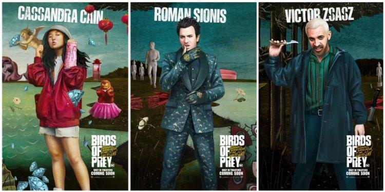 《猛禽小隊:小丑女大解放》電影海報致敬名畫「維納斯的誕生」,「該隱」卡絲、羅曼賽恩尼斯、維克多薩斯等角色海報公開。