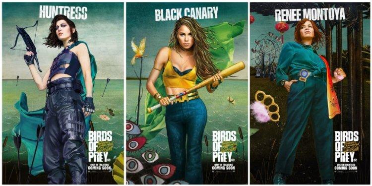 《猛禽小隊:小丑女大解放》電影海報致敬名畫「維納斯的誕生」,女獵手、黑金絲雀、蕾妮蒙托亞等個人海報公開。