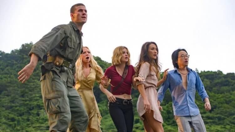 《逃出夢幻島》主演露西海爾、歐陽萬成、奧斯汀史托爾、Maggie Q,以及波蒂亞黛伯德。