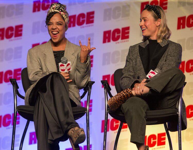 「女武神」泰莎湯普森 (Tessa Thompson) 及「驚奇隊長」布麗拉森 (Brie Larson) 出席 ACE 動漫展。