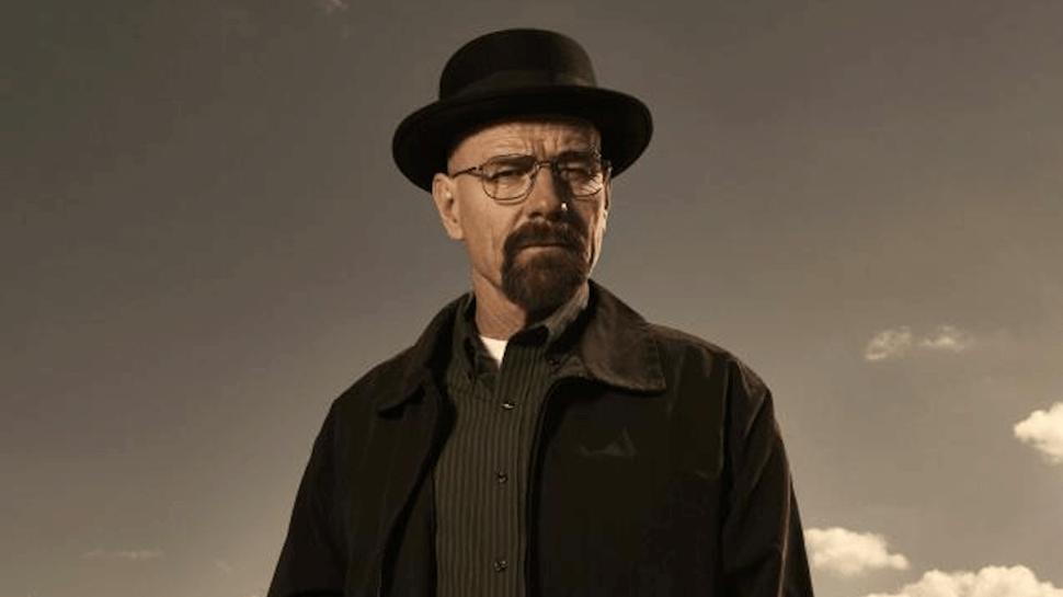 《絕命毒師》華特懷特(布萊恩克萊斯頓 飾)。
