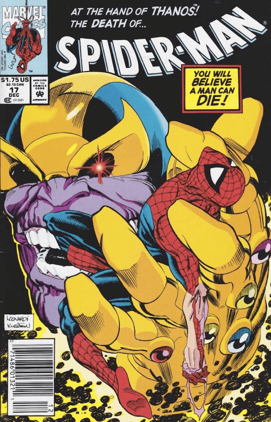 漫威 漫畫 〈 蜘蛛人 〉 中, 薩諾斯 不會在意捏死一隻小蜘蛛