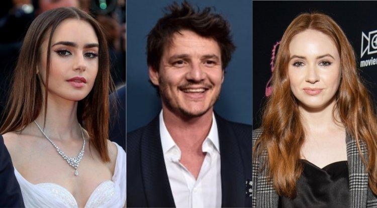 《駭人來電》莉莉柯林斯、佩德羅帕斯卡和凱倫吉蘭。