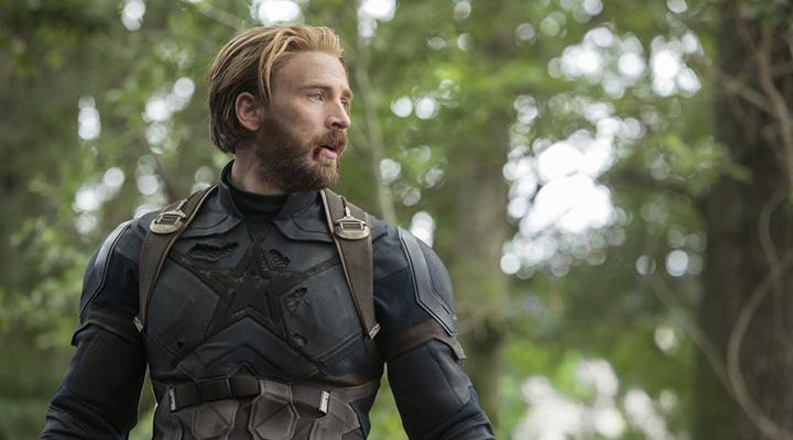 克里斯伊凡 在《 復仇者聯盟:無限之戰 》中的大鬍子「 美國隊長 」造型。