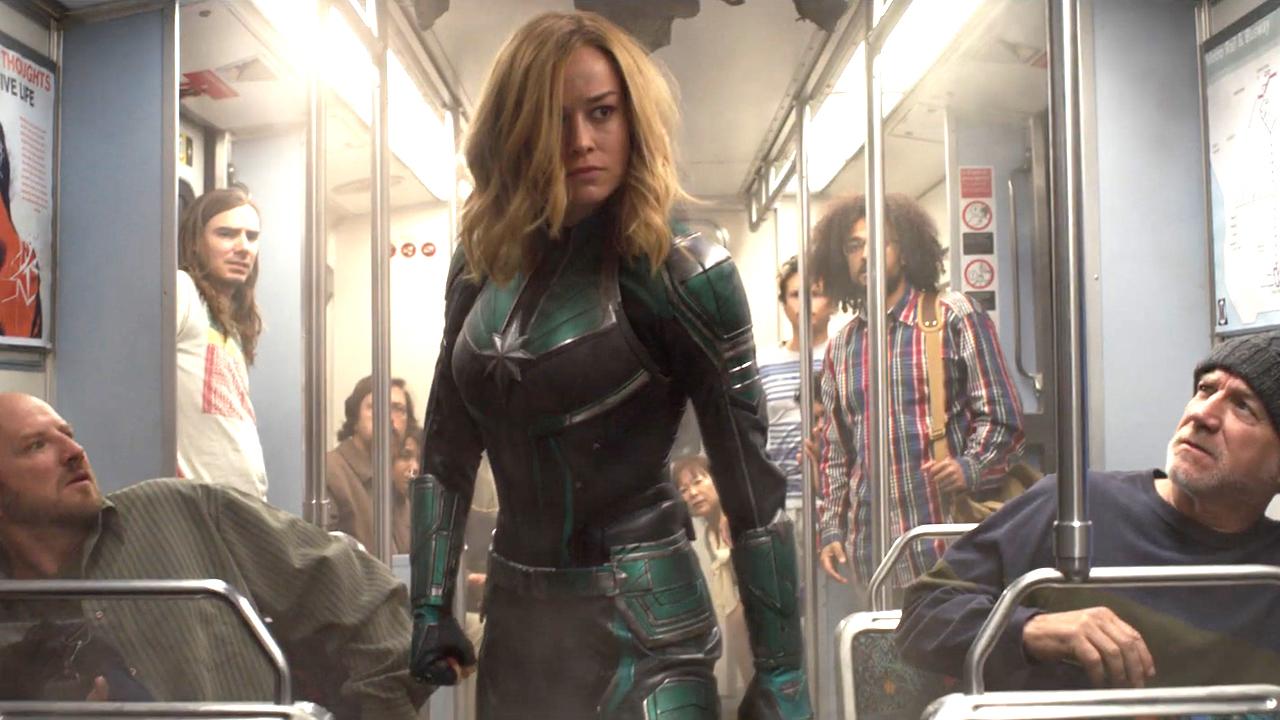 《驚奇隊長》預告片段中,身著克里人戰士服裝的卡蘿丹佛。