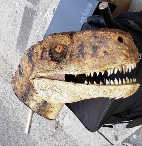 《侏羅紀世界:統治》片場照。