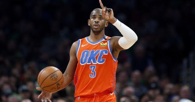 奧克拉荷馬雷霆隊的 NBA 球星暨現任球員工會主席克里斯保羅 (Chris Paul)