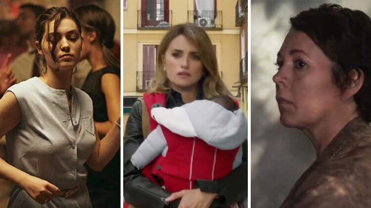 關於「女性、母親與家庭」的三部電影:威尼斯影展金獅獎《Happening》、瑪姬葛倫霍處女作《The Lost Daughter》、阿莫多瓦《Parallel Mothers》首圖
