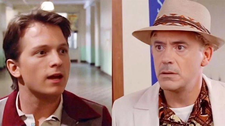 五告讚!「蜘蛛人」湯姆霍蘭德和「鋼鐵人」小勞勃道尼演出《回到未來》會是如何?
