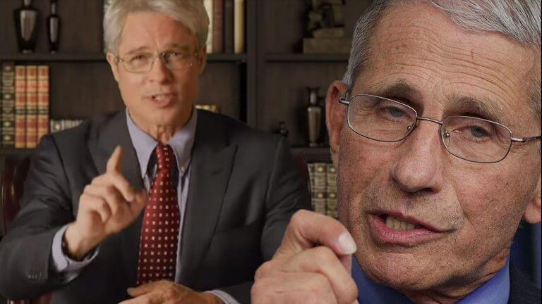 布萊德彼特在《週六夜現場》扮成美國免疫學家安東尼弗契,解讀川普總統近期關於武漢肺炎的言論