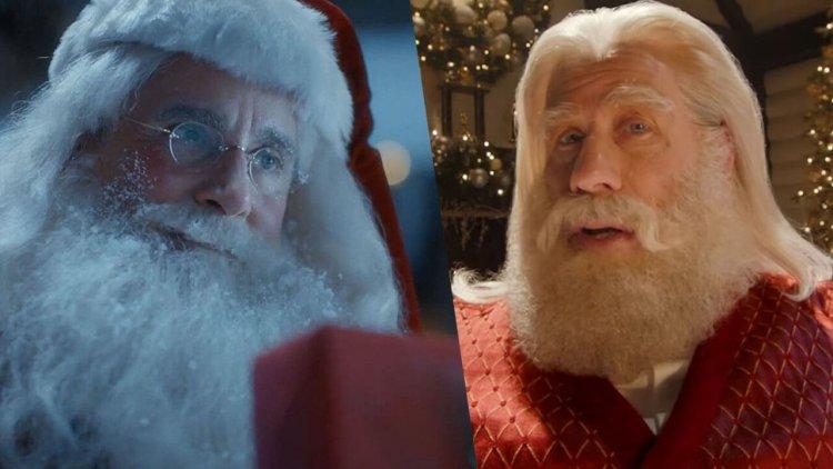 史提夫卡爾、約翰屈伏塔分別在廣告中飾演「聖誕老人」,山謬傑克森現身、約翰跳「扭扭舞」致敬《黑色追緝令》首圖