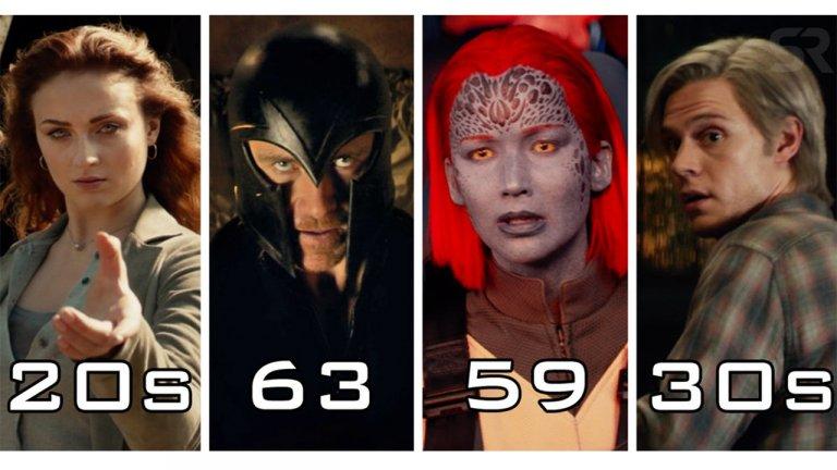 論保養的重要性?《X戰警:黑鳳凰》裡變種人們實際上應該幾歲?