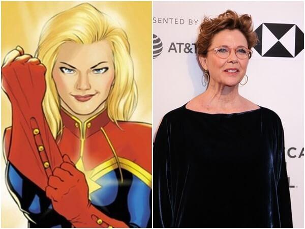 安妮特班寧在《驚奇隊長》電影化身「至高智慧」,形象和原作漫畫其實差很大?