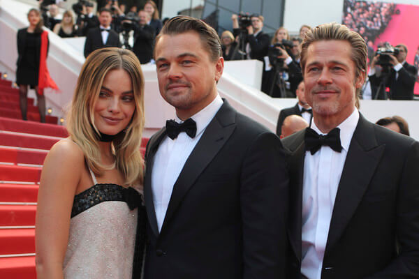 昆汀塔倫提諾新作《從前,有個好萊塢》三位主演瑪格羅比、李奧納多狄卡皮歐、布萊德彼特出席坎城首映。