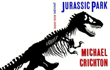 《侏羅紀公園》小說封面。
