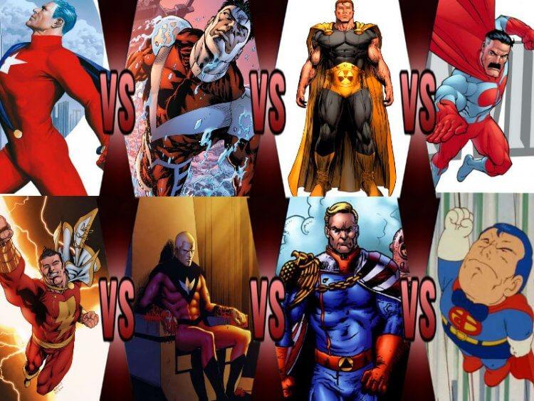 各種版本的超人。