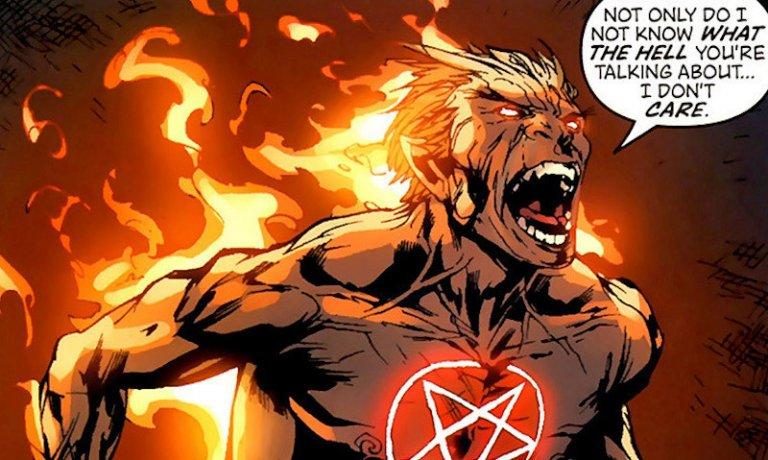 漫威漫畫旗下的反英雄角色:戴蒙地獄風暴 (Daimon Hellstrom)。