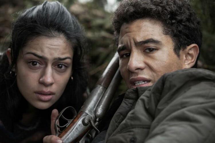 主演電影《血土》(Earth and Blood) 的 Sofia Lesaffre、山米薩格爾 (Samy Seghir)。
