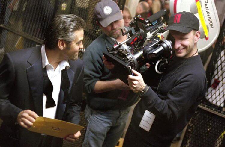 導演史蒂芬索德堡與喬治克隆尼。