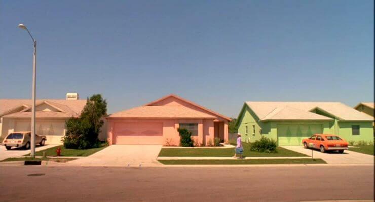 《剪刀手愛德華》中特別的社區皆為實景拍攝。