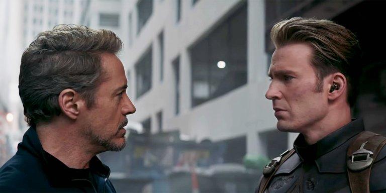 《復仇者聯盟:終局之戰》(Avengers: Endgame) 新預告釋出美國隊長 (Captain America) 與鋼鐵人 (Iron man) 的畫面。