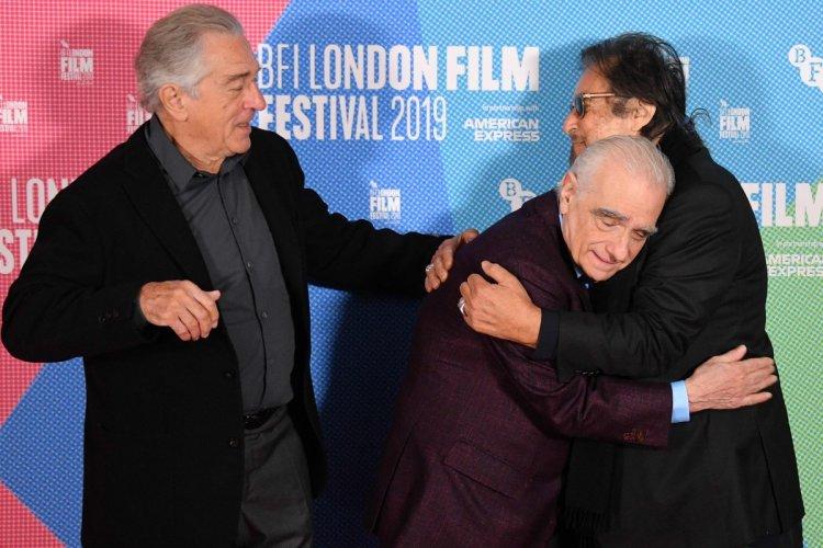 《愛爾蘭人》導演馬丁史柯西斯以及兩名主演勞勃狄尼洛、艾爾帕西諾。