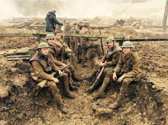 一戰紀念電影《決戰最前線》劇照。