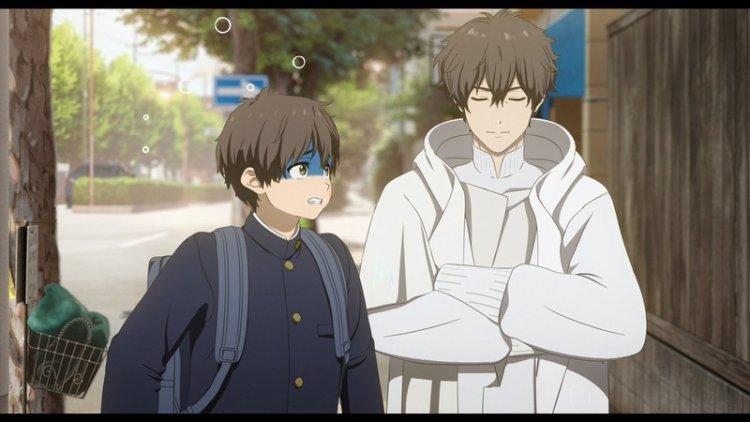 日本年輕一代人氣演員北村匠海及松坂桃李兩人在動畫電影《Hello World》配音飾演高中及十年後的直實同學。