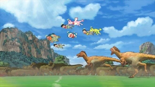《哆啦A夢:大雄的新恐龍》劇照。