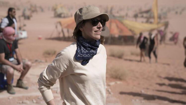 《Star Wars : 天行者的崛起》片場側拍的監製:蜜雪兒雷伊萬。