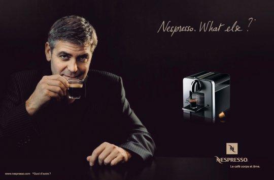 不太拍電影的時候,喬治克隆尼曾代言知名咖啡廣告。