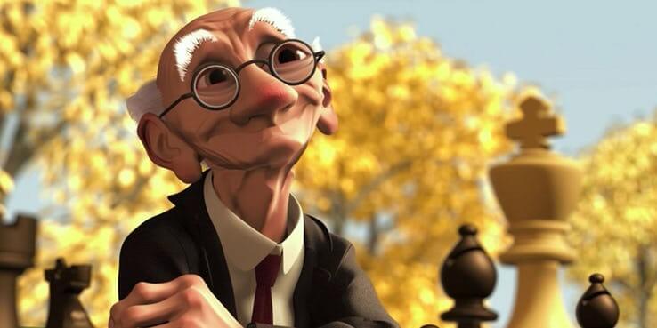 《玩具總動員 4》(Toy Story 4) 店主瑪格麗特與基里先生有一段情