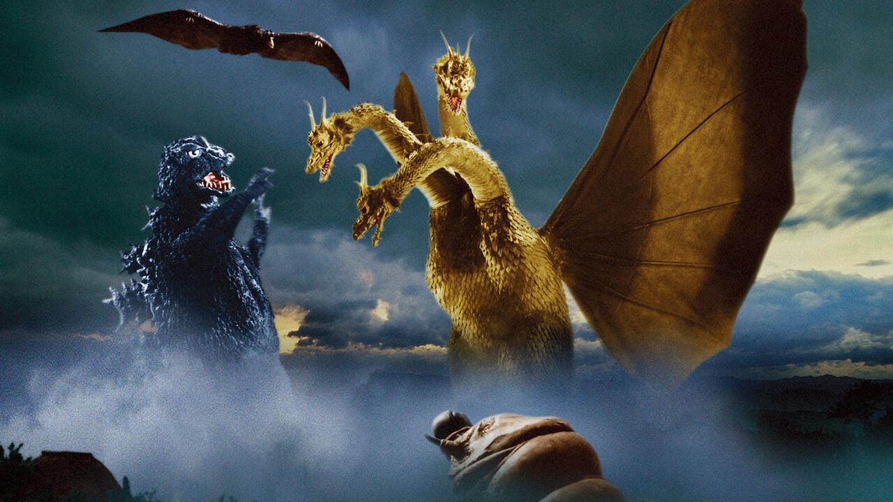 曾在 1964 年日本東寶特攝片《三大怪獸 地球最大的決戰》中展開大亂鬥的哥吉拉與經典怪獸們。