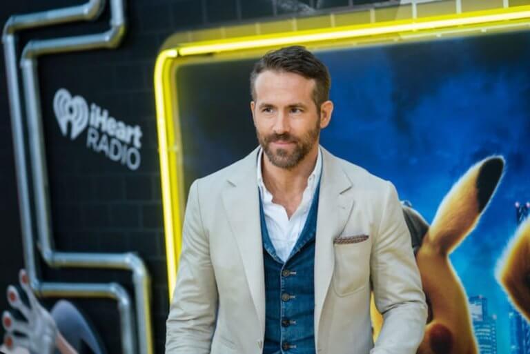 萊恩雷諾斯 (Ryan Reynolds) 為《名偵探皮卡丘》(Detective Pikachu) 宣傳。