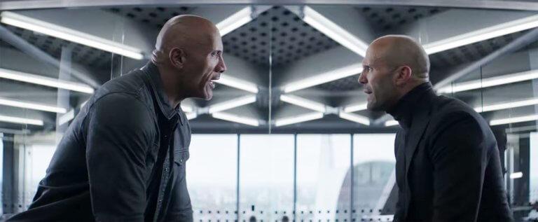 玩命系列的首部外傳電影《玩命關頭:特別行動》劇照,巨石強森、傑森史塔森兩大光頭硬漢領銜主演。