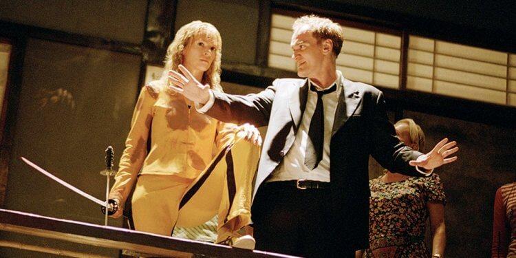 昆汀塔倫提諾與烏瑪舒曼合作的《追殺比爾》,是昆汀的代表作之一。
