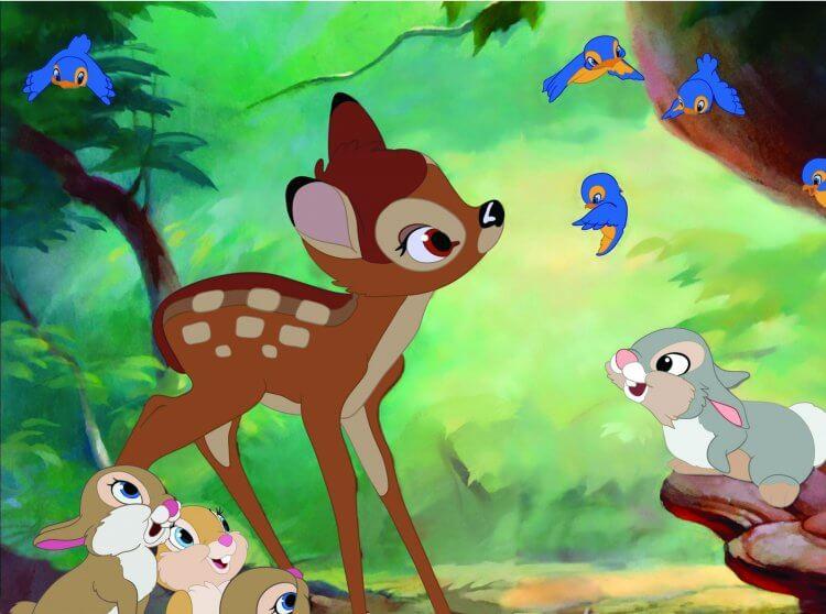 迪士尼創辦人華特迪士尼曾表示《小鹿斑比》為他最喜愛的電影作品。