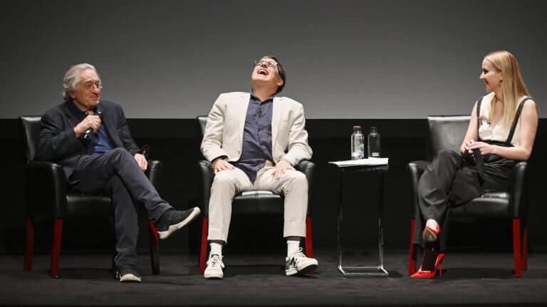 由勞勃狄尼洛發起的翠貝卡影展已邁入第 18 屆,大衛歐羅素及珍妮佛勞倫斯出席盛會。
