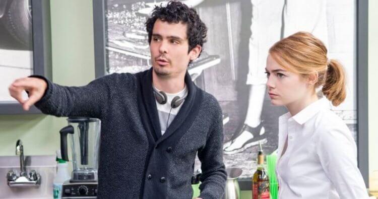 艾瑪史東 (Emma Stone) 與導演達米恩查澤雷 (Damien Chazelle)