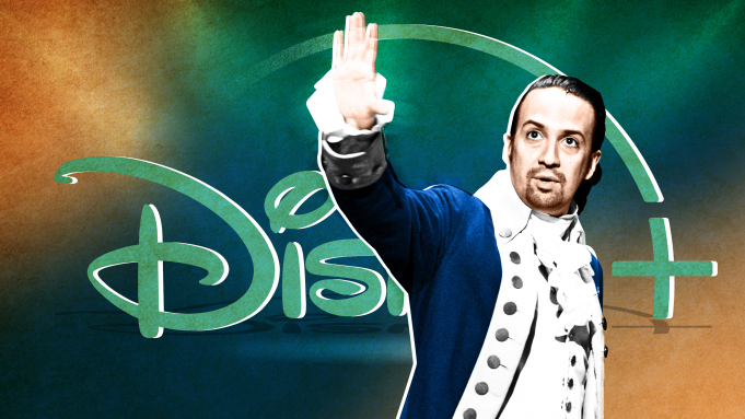 Disney+ 平台上的音樂劇電影《漢米爾頓》。