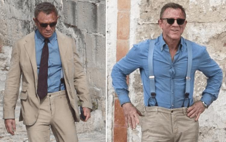 《007:生死交戰》片場側拍照。