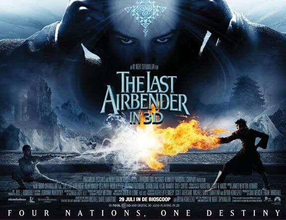 奈沙馬蘭執導的《降世神通:最後的氣宗》電影海報。