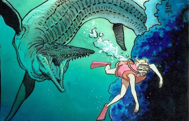 在《逃出侏羅紀公園》登場的滄龍。