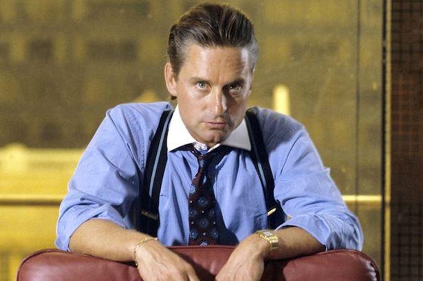 《華爾街》由麥克道格拉斯飾演的高登蓋柯。