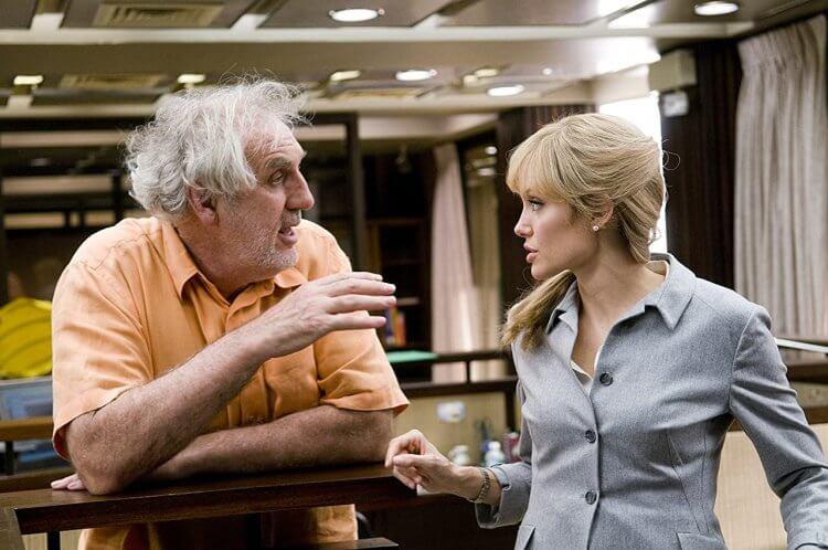 《特務間諜》導演菲利普諾斯與安潔莉娜裘莉。