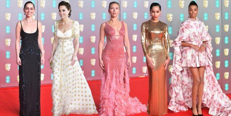 英國影藝學院獎紅毯集結許多女星。